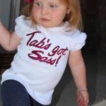 Tab's got Sass DIY vinyl tee shirt