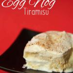 Easy Eggnog Tiramisu