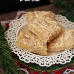 Egg Nog Cookie Bars with Egg Nog Drizzle