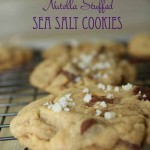 Browned Butter Nutella Stuffed Sea Salt Cookies