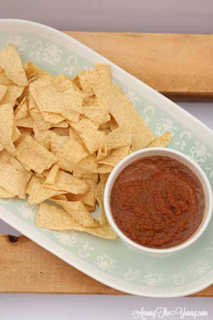 Imitation Los Hermanos Salsa Recipe featured by top US food blog, Among the Young