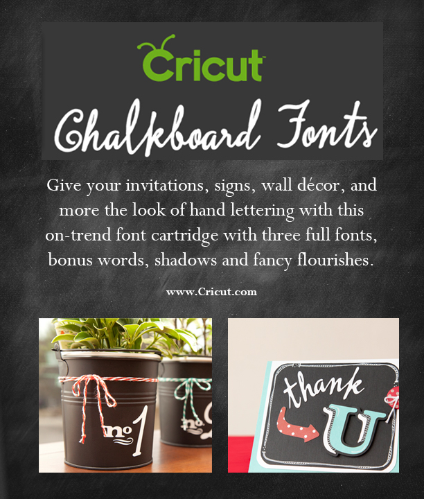 Cricut chalkboard font and a giveaway among the young for Cricut craft room fonts