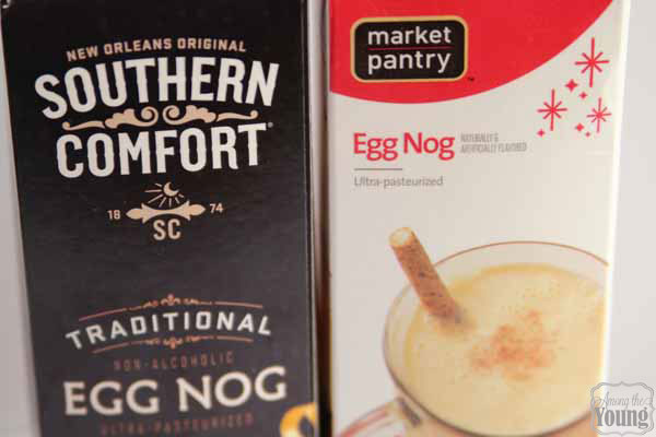 Egg Nog Cake Recipe with an Egg Nog Drizzle featured by top US food blog, Among the Young