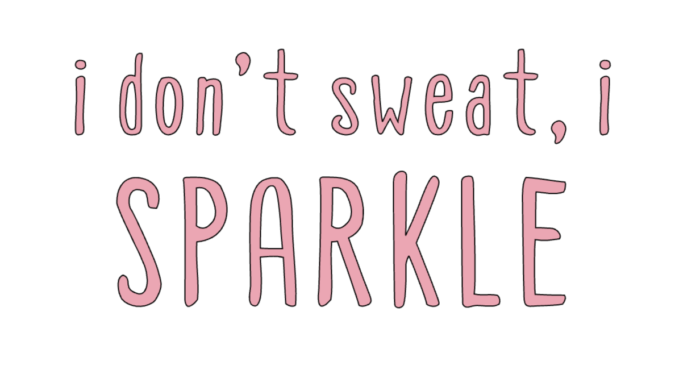 The Best DIY workout tank featured by top Utah Lifestyle blog, Among the Young: image of I don't sweat I sparkle