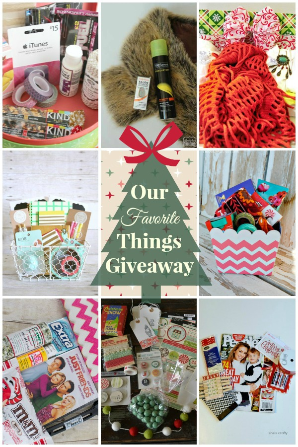 Favorite Things Giveaway Collage
