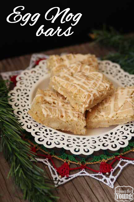 Egg Nog Cookie Bars