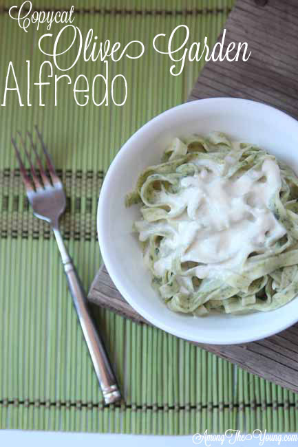 Copycat Olive Garden Alfredo Sauce Recipe Among The Young
