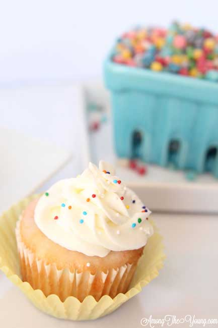 Sour Nerd Cupcakes Recipe featured by top US food blog, Among the Young