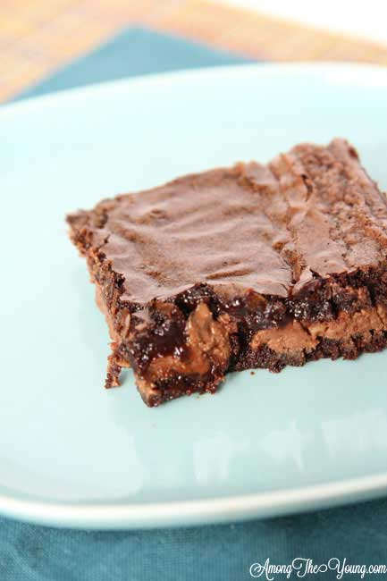 The Best Symphony Bar Brownies Recipe featured by top US food blog, Among the Young