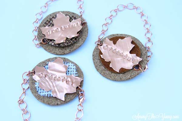 DIY Metal Bracelet with Cricut Design Star featured by top US lifestyle blog, Among the Young