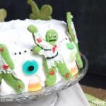 ZOMBIE Lime Poke Cake Cheesecake Cake