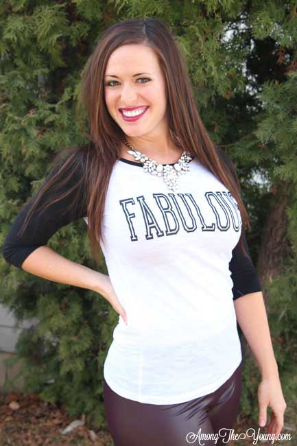 Fabulous iron on vinyl baseball tee