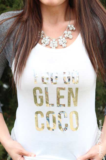 You Go Glen Coco vinyl iron on