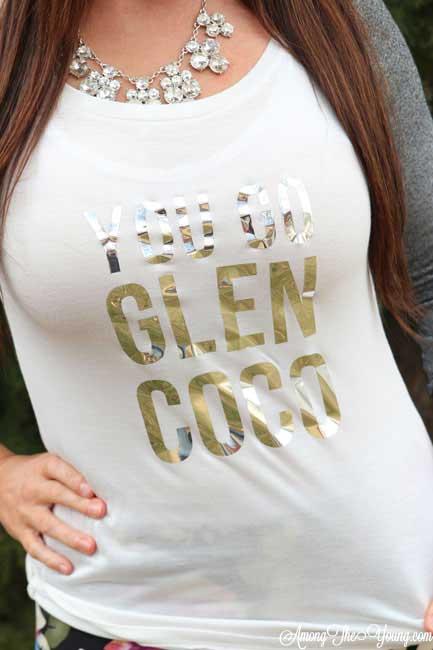 You Go Glen Coco vinyl iron on