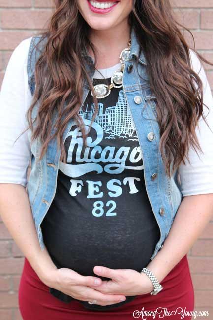 how to rock Agnes & Dora when pregnant