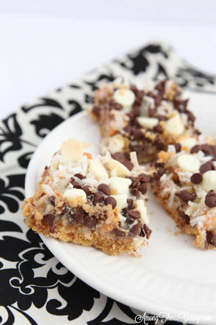 The Best Hello Dolly Bars Recipe featured by top US food blog, Among the Young