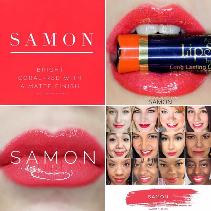 Lipsense Colors featured by top US lifestyle blog and Lipsense distributor, Kaylynn of Among the Young: image of Samon