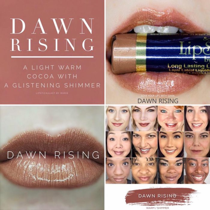Lipsense Colors featured by top US lifestyle blog and Lipsense distributor, Kaylynn of Among the Young: image of Dawn Rising