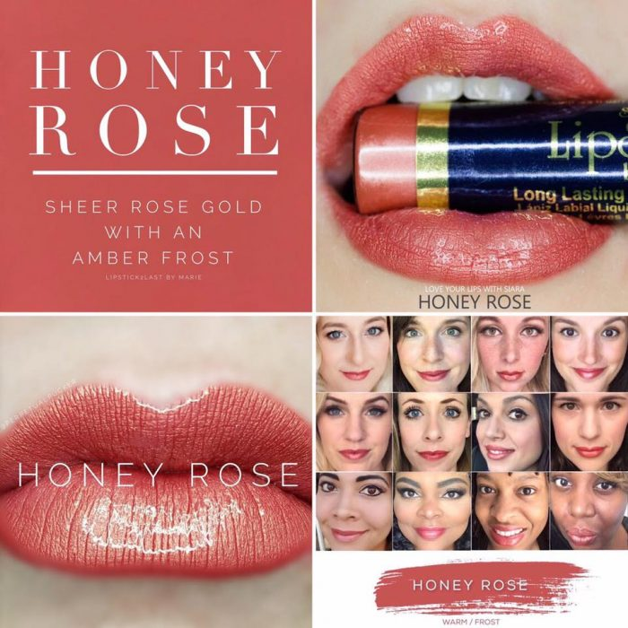 Lipsense Colors featured by top US lifestyle blog and Lipsense distributor, Kaylynn of Among the Young: image of Honey Rose