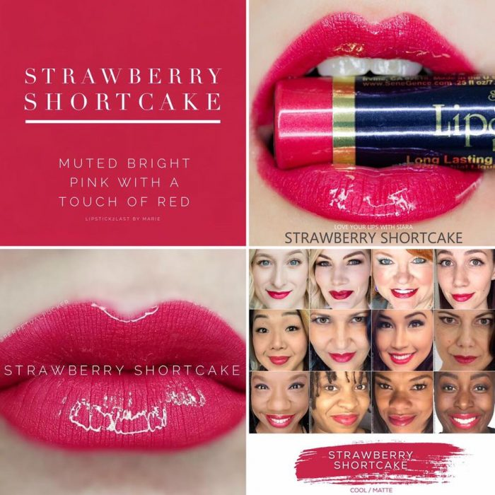 Lipsense Colors featured by top US lifestyle blog and Lipsense distributor, Kaylynn of Among the Young: image of Strawberry Shortcake