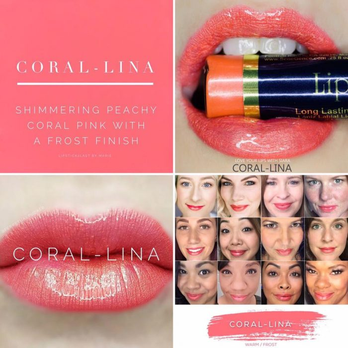 Lipsense Colors featured by top US lifestyle blog and Lipsense distributor, Kaylynn of Among the Young: image of Coral Lina