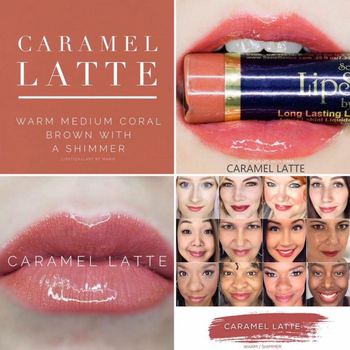 Lipsense Colors featured by top US lifestyle blog and Lipsense distributor, Kaylynn of Among the Young: image of Caramel Latte