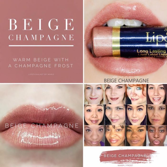 Lipsense Colors featured by top US lifestyle blog and Lipsense distributor, Kaylynn of Among the Young: image of Beige Champagne