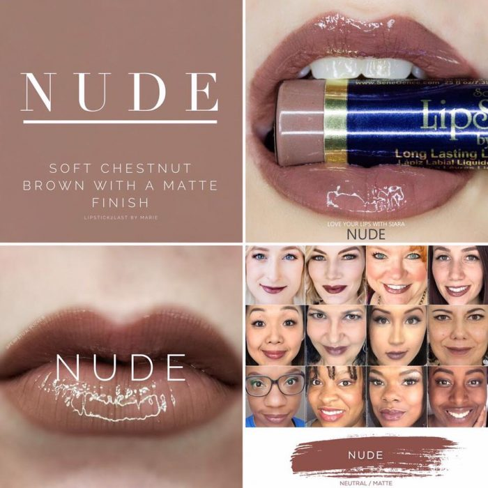 Lipsense Colors featured by top US lifestyle blog and Lipsense distributor, Kaylynn of Among the Young: image of Nude