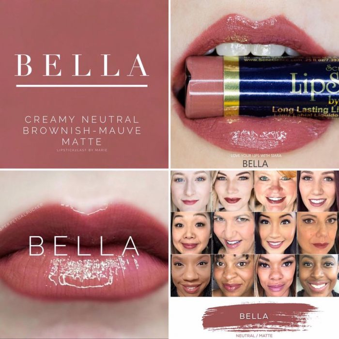Lipsense Colors featured by top US lifestyle blog and Lipsense distributor, Kaylynn of Among the Young: image of Bella