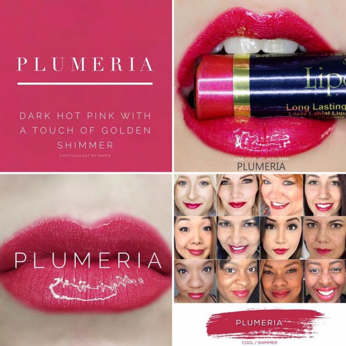 Lipsense Colors featured by top US lifestyle blog and Lipsense distributor, Kaylynn of Among the Young: image of Plumeria