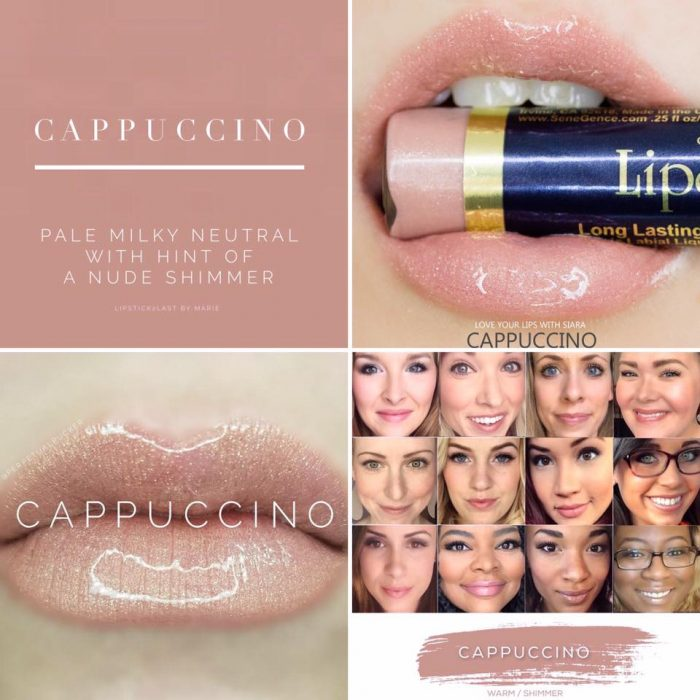 Lipsense Colors featured by top US lifestyle blog and Lipsense distributor, Kaylynn of Among the Young: image of Cappucino