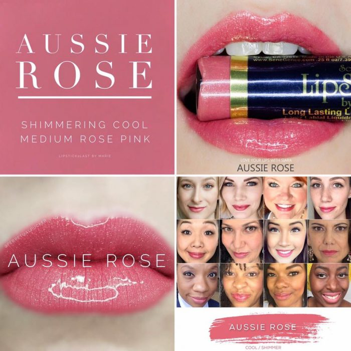 Lipsense Colors featured by top US lifestyle blog and Lipsense distributor, Kaylynn of Among the Young: image of Aussie Rose