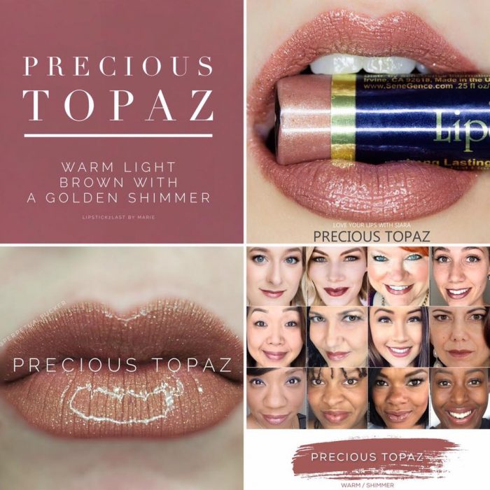 Lipsense Colors featured by top US lifestyle blog and Lipsense distributor, Kaylynn of Among the Young: image of Precious Topaz