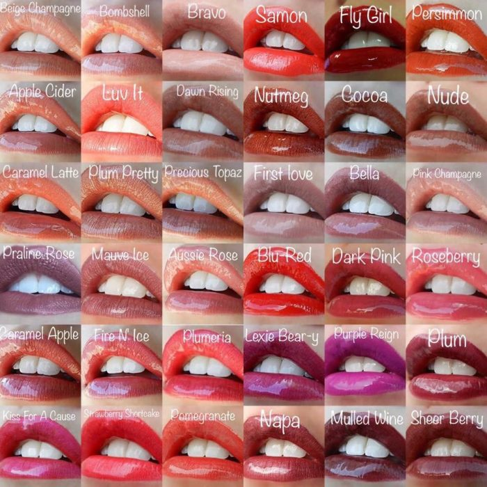 Lipsense Colors featured by top US lifestyle blog and Lipsense distributor, Kaylynn of Among the Young: image of 36 lipsense colors