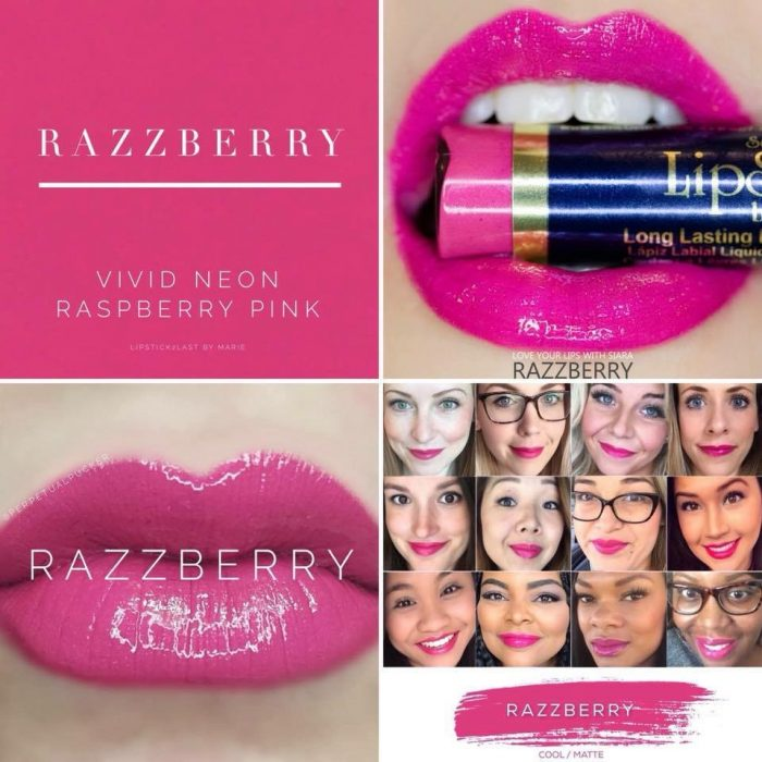 Lipsense Colors featured by top US lifestyle blog and Lipsense distributor, Kaylynn of Among the Young: image of Razzberry