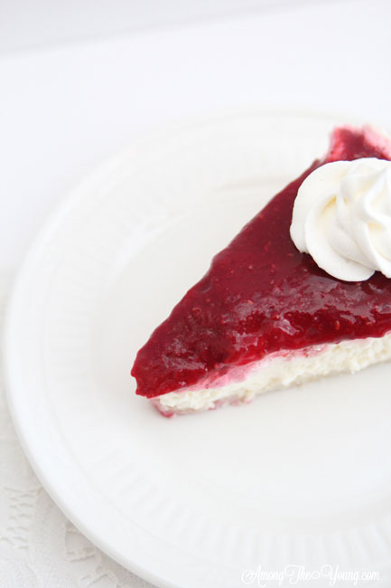 Kneaders Raspberry Cream Cheese Pie Recipe featured by top US food blog, Among the Young: Kneaders raspberry cream cheese pie