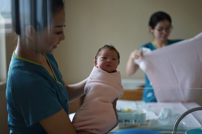 10 things to do in the hospital after baby featured by top Utah Lifestyle blog, Among the Young: image of nurse