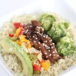 Healthy Mongolian Cauliflower Rice Bowl