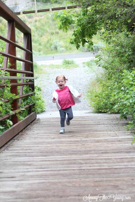 Hiking with an Ergo Baby Carrier featured by top US lifestyle blog, Among the Young: Hike with Ergo Baby baby on a bridge