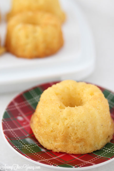 The Best Egg Nog cake recipe featured by top Utah Foodie blog, Among the Young: image of egg nog mini bundt