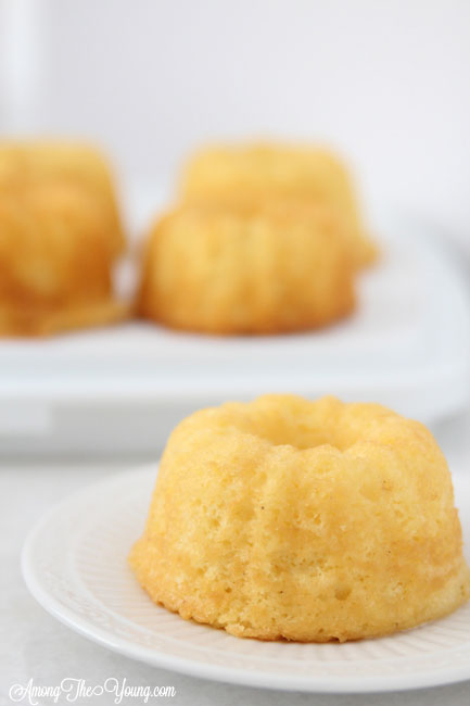 The Best Egg Nog cake recipe featured by top Utah Foodie blog, Among the Young: image of egg nog mini bundts
