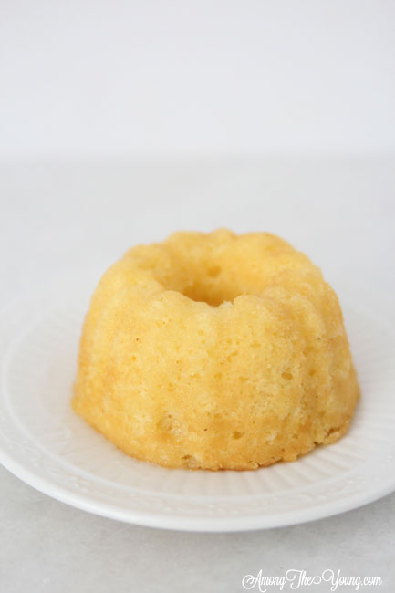 The Best Egg Nog cake recipe featured by top Utah Foodie blog, Among the Young: image of mini egg nog cake