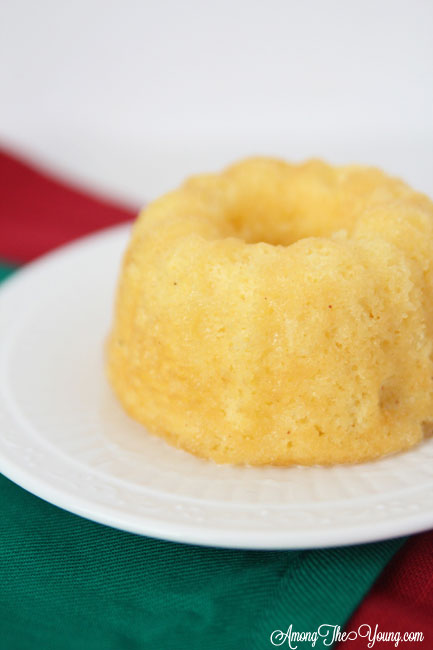 The Best Egg Nog cake recipe featured by top Utah Foodie blog, Among the Young: image of egg nog cake and green napkin