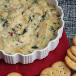 Easy Spinach and Artichoke Dip featured by top US food blog, Among the Young.