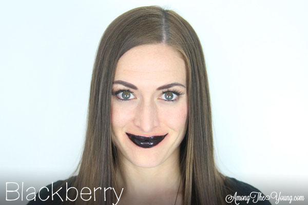 Lipsense Colors featured by top US lifestyle blog and Lipsense distributor, Kaylynn of Among the Young: image of Kaylynn wearing Blackberry