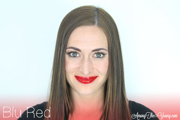 Lipsense Colors featured by top US lifestyle blog and Lipsense distributor, Kaylynn of Among the Young: image of Kaylynn wearing Blu Red