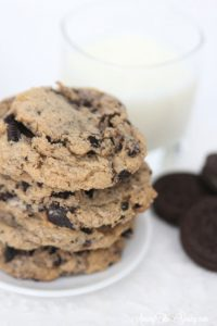 Browned Butter Cookies and Cream Cookies featured by top Utah Foodie blog, Among the Young: image of Cookies and Oreos