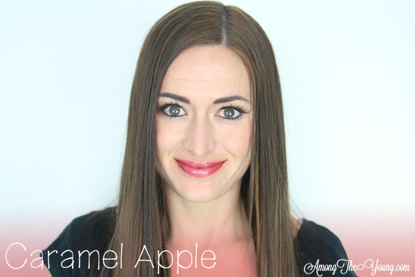 Lipsense Colors featured by top US lifestyle blog and Lipsense distributor, Kaylynn of Among the Young: image of Kaylynn wearing Caramel Apple