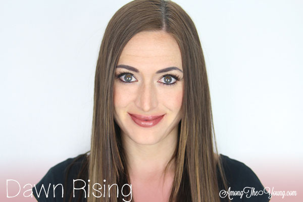 Lipsense Colors featured by top US lifestyle blog and Lipsense distributor, Kaylynn of Among the Young: image of Kaylynn wearing Dawn Rising