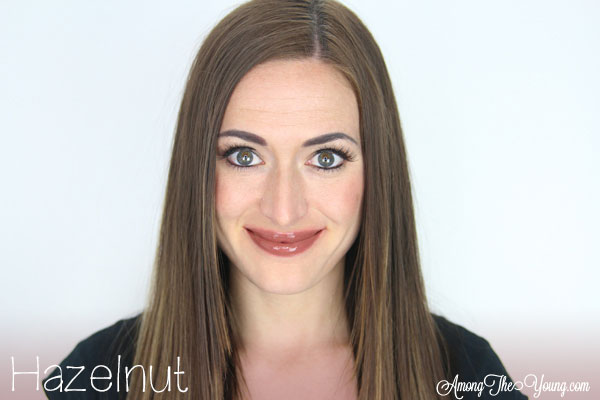Lipsense Colors featured by top US lifestyle blog and Lipsense distributor, Kaylynn of Among the Young: image of Kaylynn wearing Hazelnut